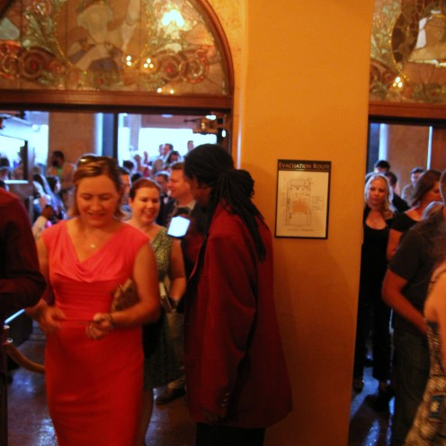 Guests flood the Auditorium Theatre