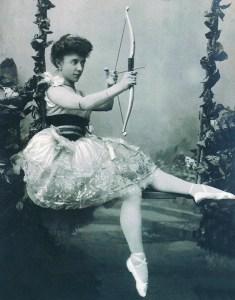 Olga Preobrajenskaya (1871-1962) as Sylvia, choreographed by Louis Méranté (1828-1887). Circa December, 1901, Imperial Mariinsky Theatre, St. Petersburg (Public Domain)