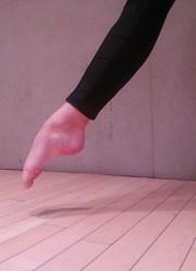 Pointed foot en l'air