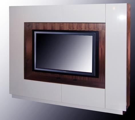 Built In LED TV Wall Unit And AV Cabinet
