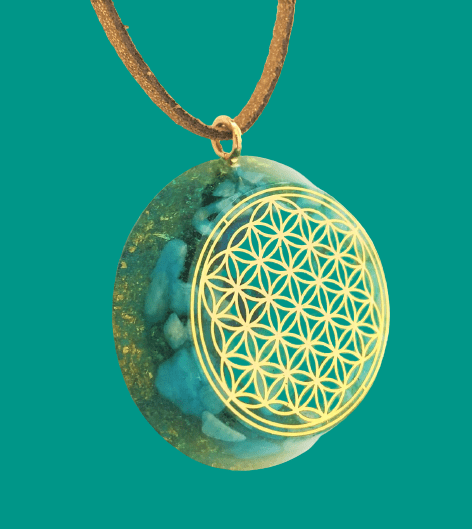 Goud Flower of life hanger