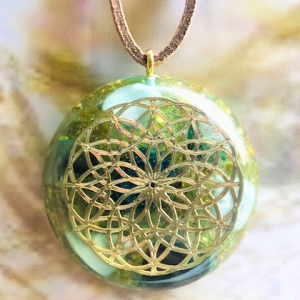 Indian Flower of Life Emerald
