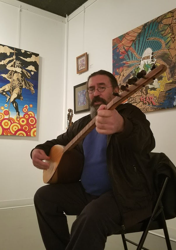 Turkish Performer Maksut Kesici at Dimensions Gallery