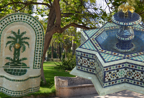 Fontaines Murales De Jardin Marocaines En Zellige De