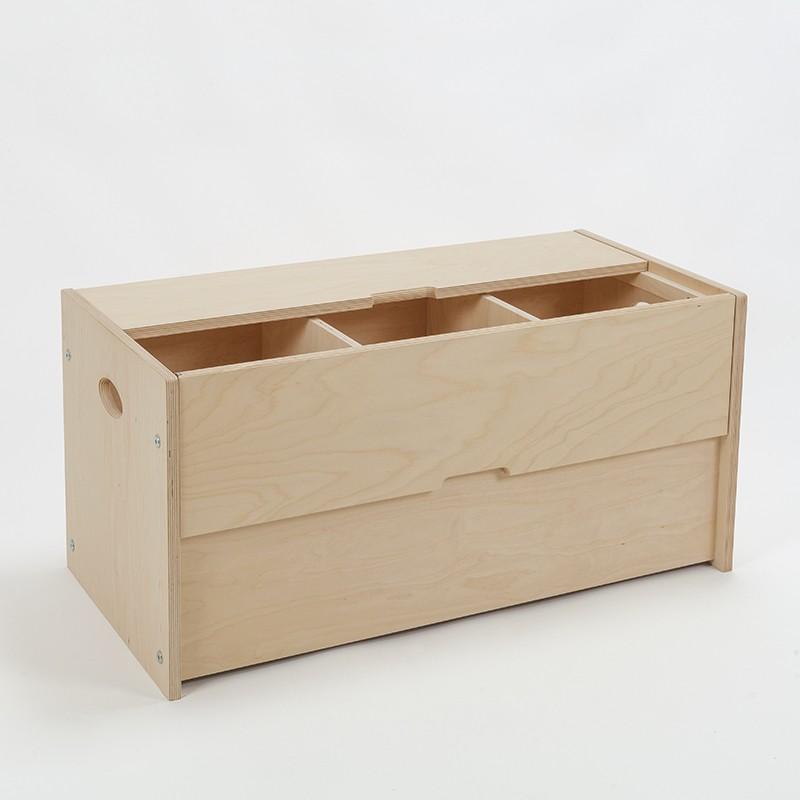 coffre armoire bois brut