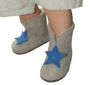 chaussons bebe garcon natur