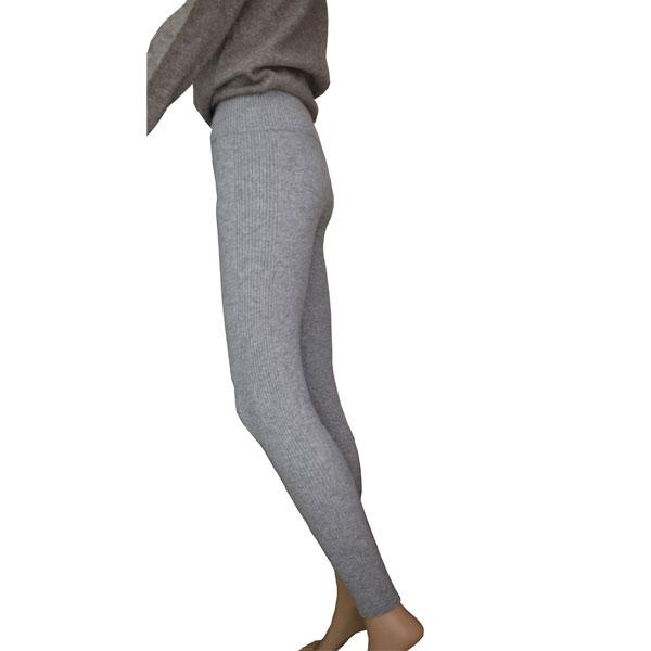 legging femme cachemire gri