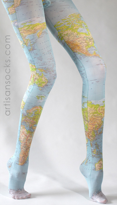 Map Of The World Tights Pinterest World Map Stockings