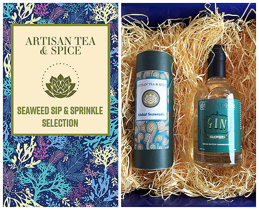 The Seaweed Sip & Sprinkle Collection, a gift of artisan seaweed gin and a collection of four seaweeds �C Artisan Tea & Spice517 x 421 jpeg 137kB