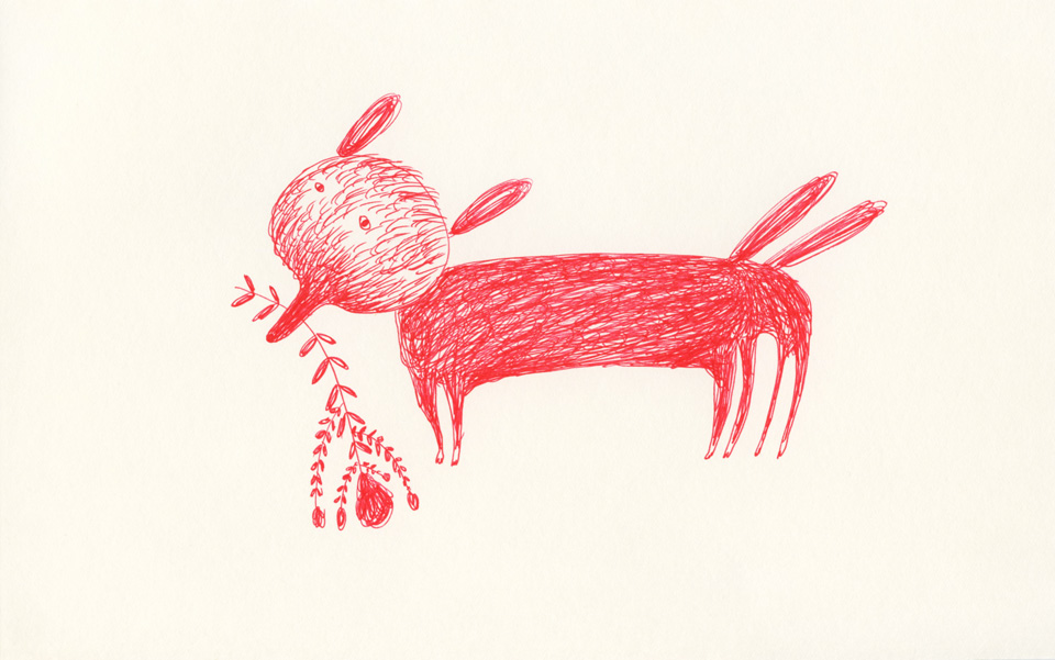 dog in red 960