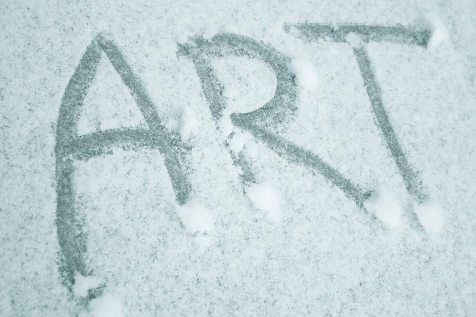 ART word friends (snow) small