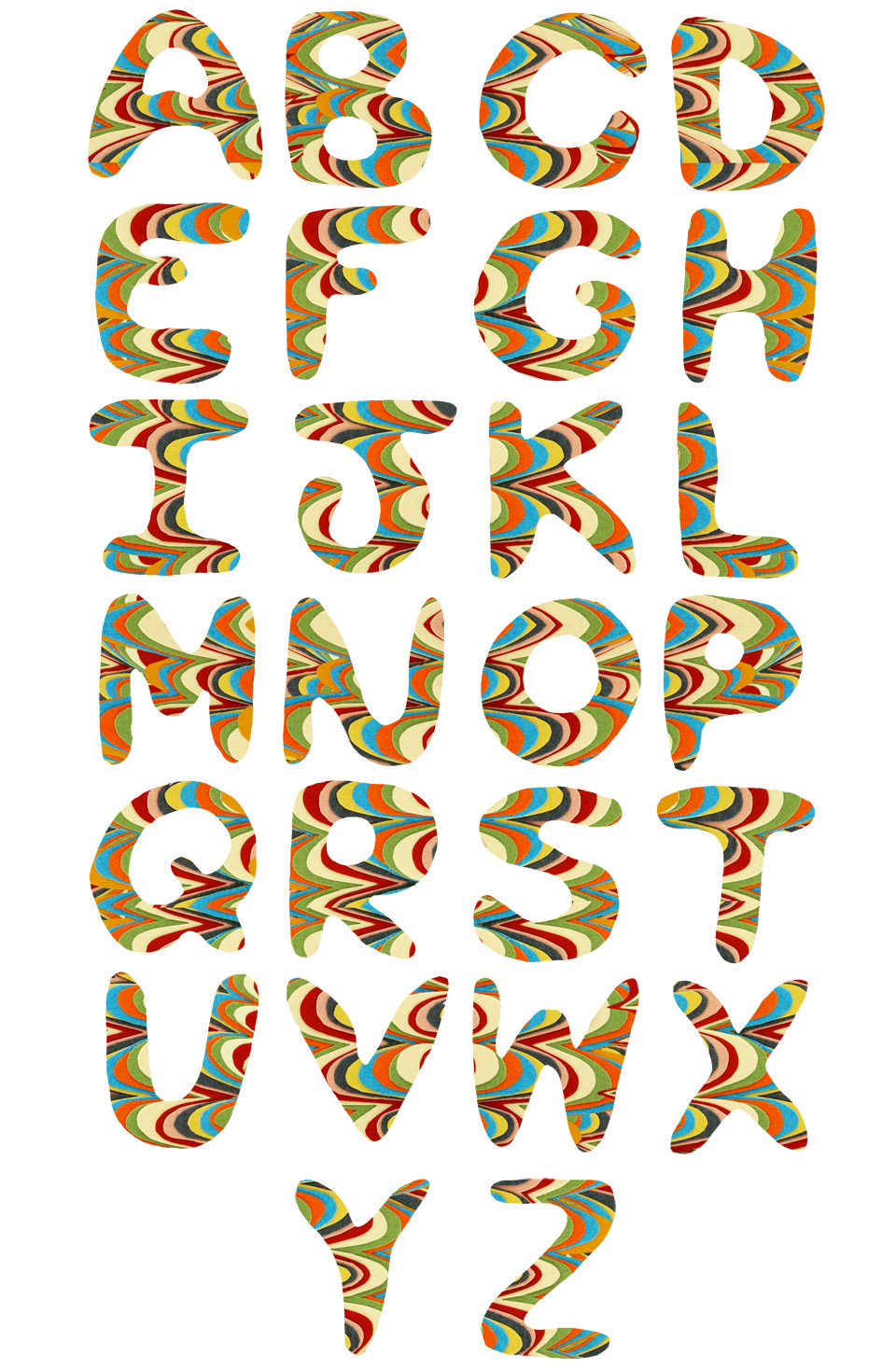 marble alphabet 1 small