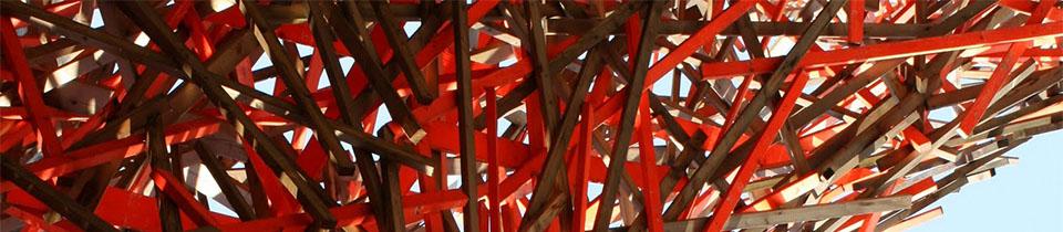 Arne Quinze's Wood Installations.