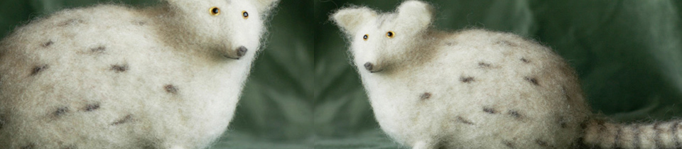 Felted Animals by Victor Dubrovsky.