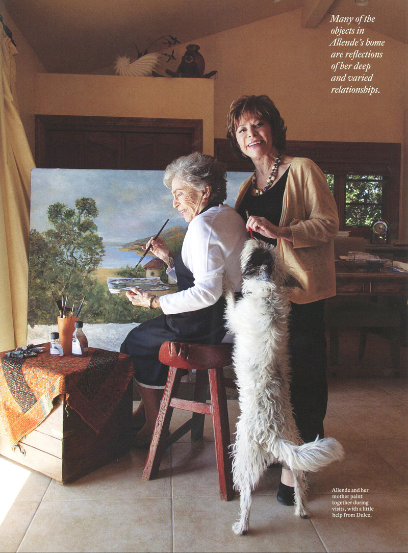 Isabel Allende and her Mom