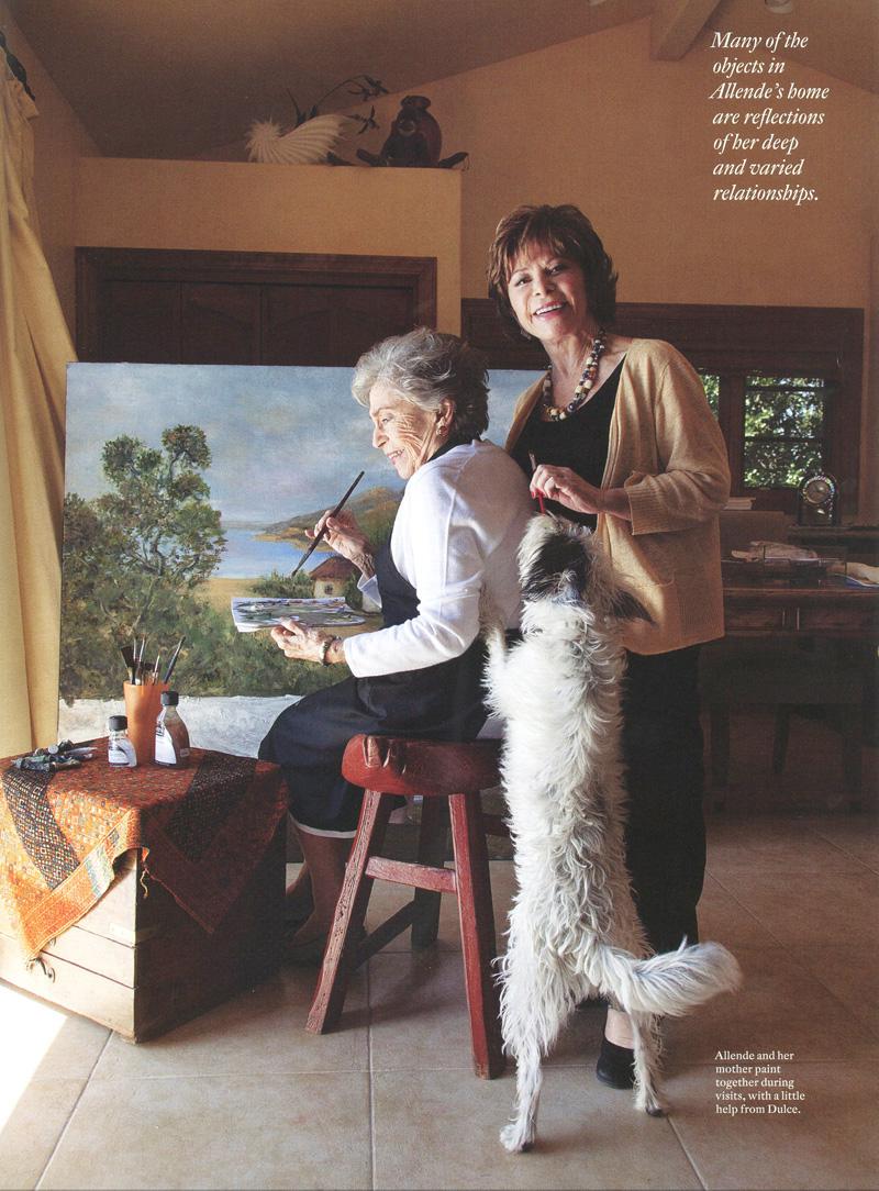 Isabel Allende and her Mom