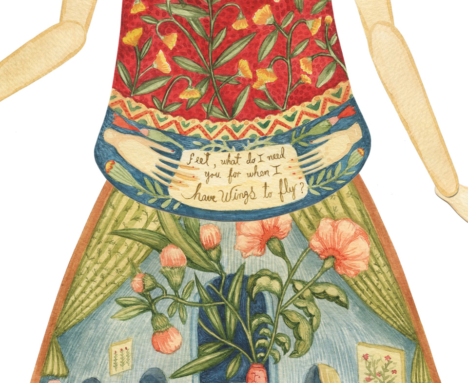 Frida Kahlo by Elsa Mora (detail 2)