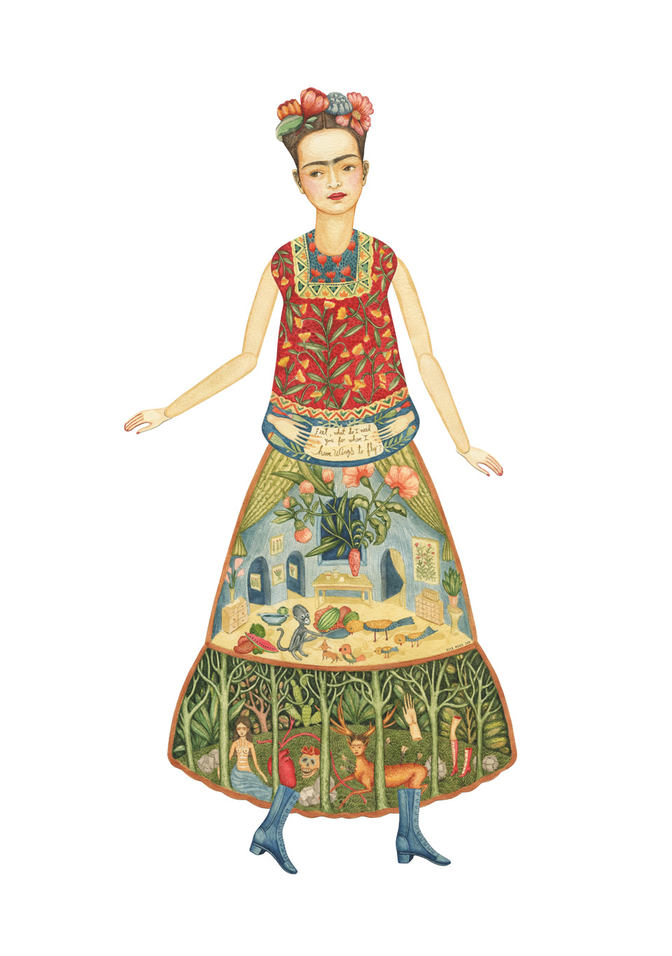 Frida Kahlo by Elsa Mora