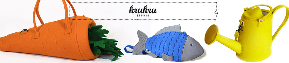 Sculptural Bags by Krukru Studio.