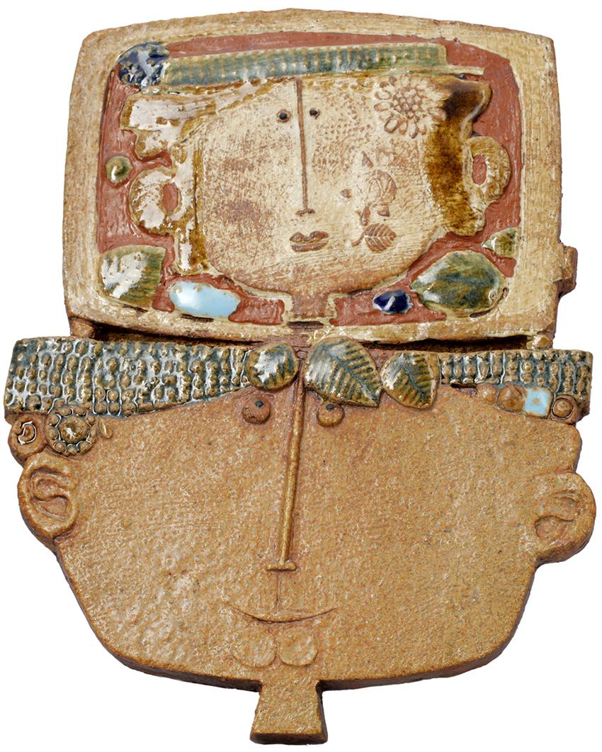 Stig-Lindberg-Gustavsberg-head-face-plaque-63-BM