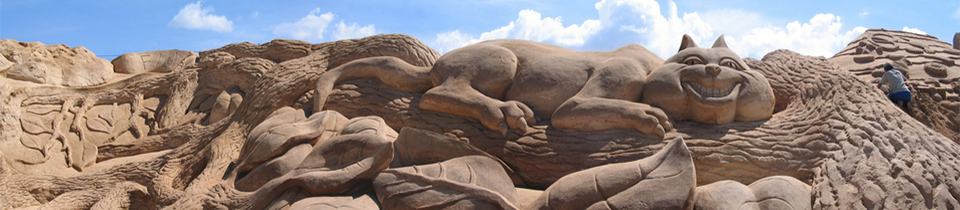 Amazing Sand Sculptures by Fergus Mulvany.