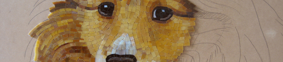 Mosaic Pet Portraits by Donna Van Hooser.