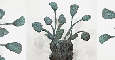 Bronze sculptures by Donald Baechler.