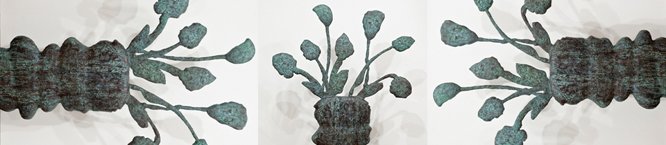 Bronze sculptures by Donald Baechler.