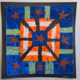 Complementary Color Quilt Paintings. – Art is Basic | An ... : quilt paintings - Adamdwight.com