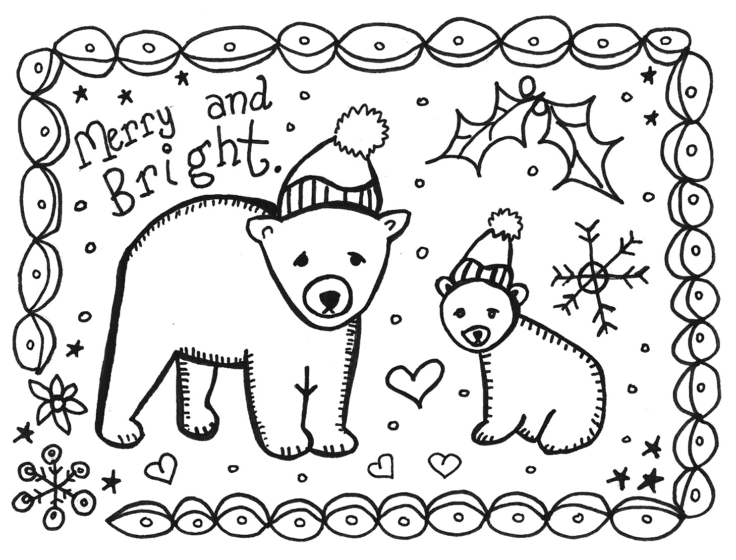 Free Printable Holiday Card To Color