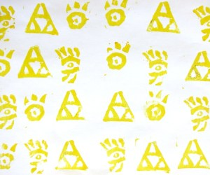 yellow rubber stamps