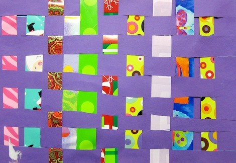 Paper weaving art project