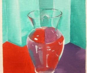 Acrylic Vase Painting