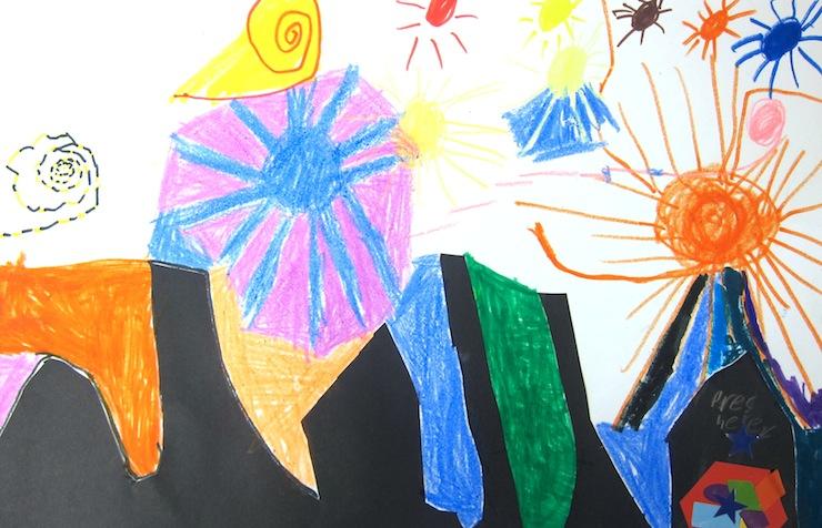 starry night kindergarten art project art is basic an elementary