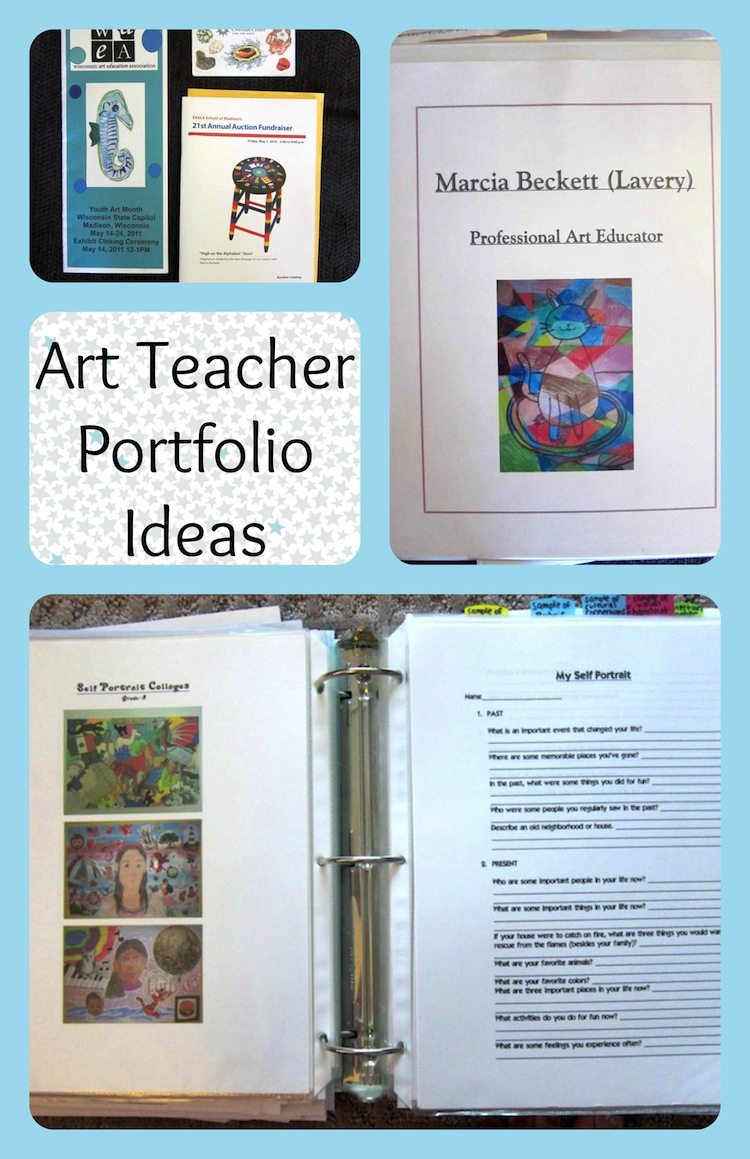 Art teacher portfolio ideas for an interview art is for Professional teaching portfolio template