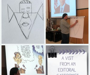 A Visit from an Editorial Cartoonist