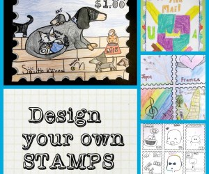 Postage Stamp Art Project