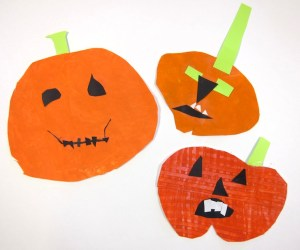 Halloween Pumpkin Painting Art Project for 1st Grade