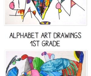 Alphabet Art Project for 1st Grade