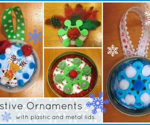 Holiday Ornaments with Lids (Easy for Kids to Make)