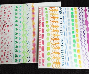 Painting Patterns with Watercolor