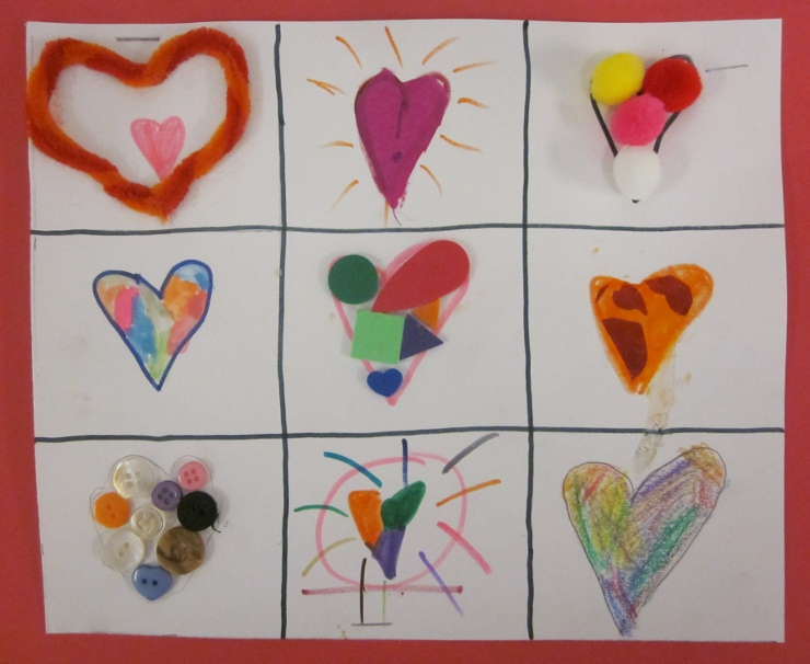 Collage of Hearts