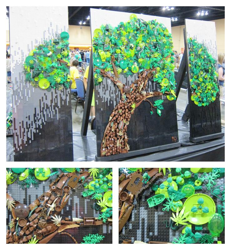 Lego Tree Mosaic
