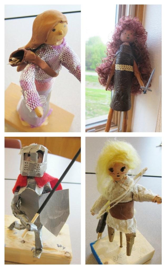 Medieval Knight Sculptures