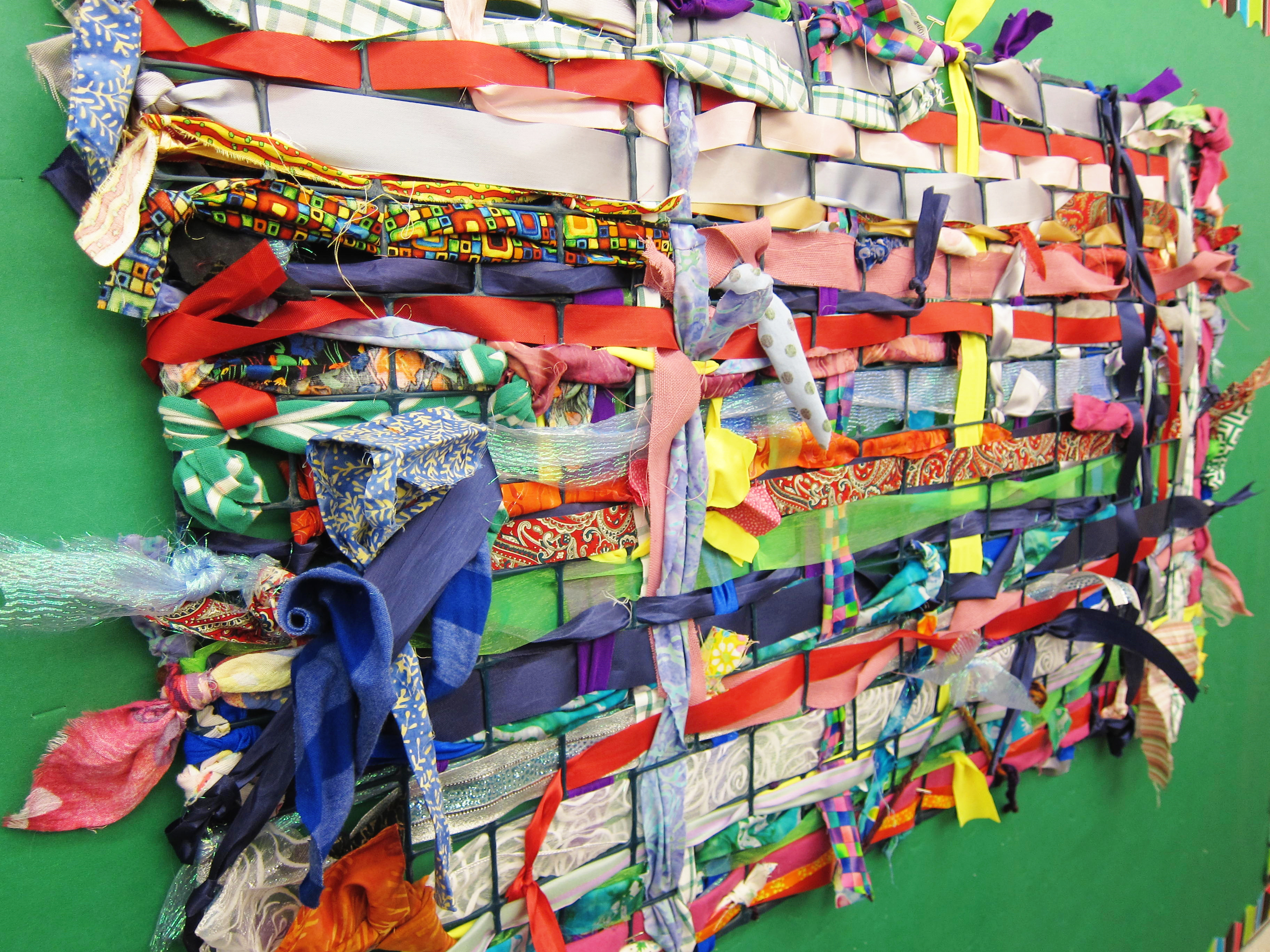 Large Group Weaving On A Garden Fence Art Is Basic An