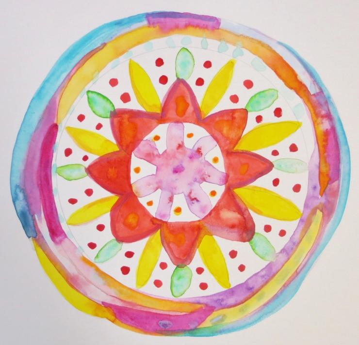 Watercolor Mandala Steps