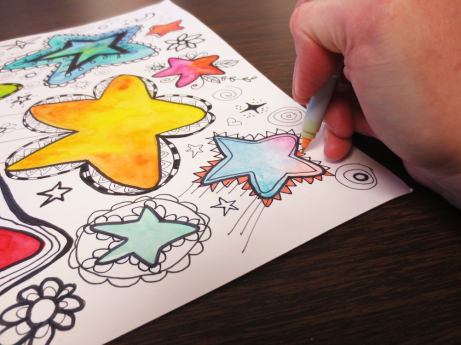 Color in the doodles