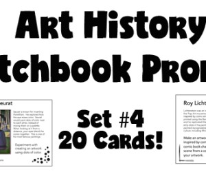 New Art History Sketchbook Prompt Set!!  Set #4