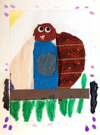 owl creature collage