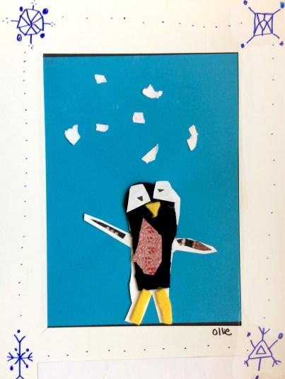 penguin creature collage